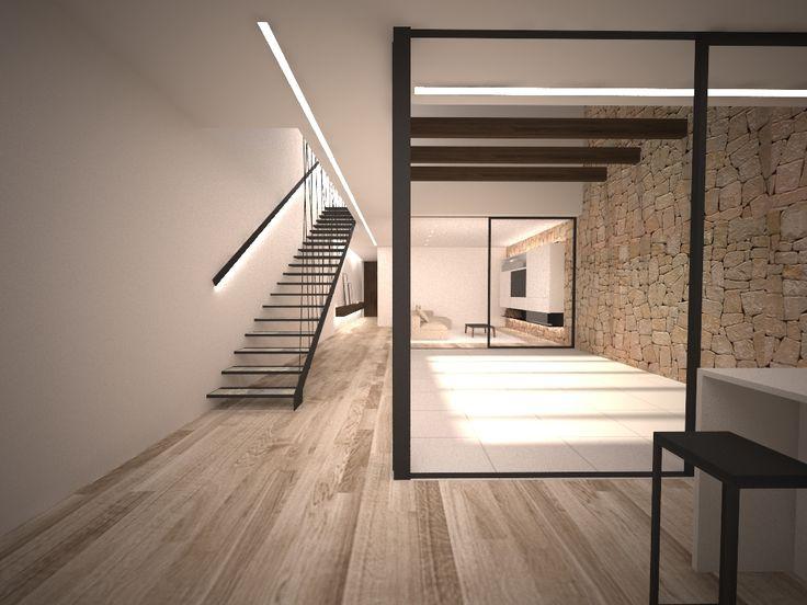 Chiralt Arquitectos Valencia. Casa de pueblo reformada. Minimalista y moderna con un patio que la ilumina.