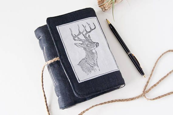 Small Journal with Deer Head Print  160 Blank Pages  Great