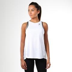 Gymshark Switch Back Gym Vest - White