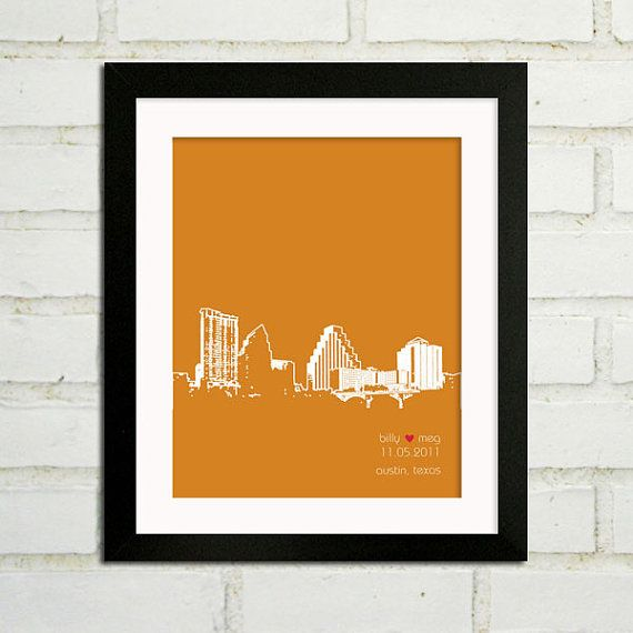 had this done for a wedding present.  turned out really cute, and she was able to do the skyline of austin, tx, for me!