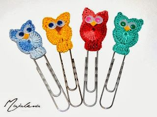 #Crochet #owls #bookmarks   Made by Majalena.