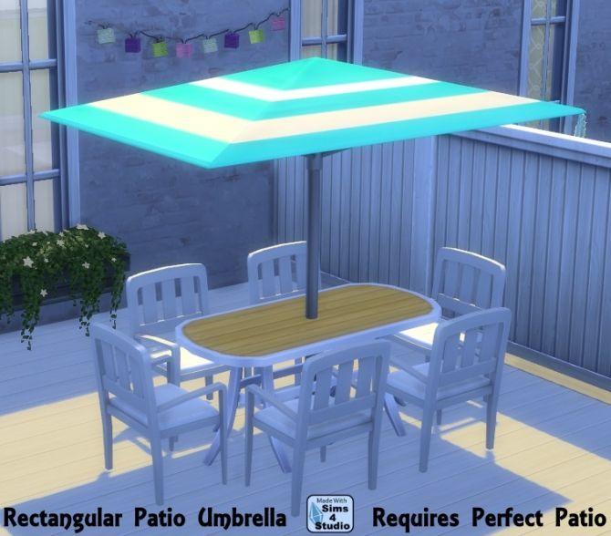 Rectangular patio umbrella by OM at Sims 4 Studio via Sims 4 Updates