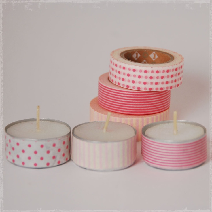 DIY decorated votive candles