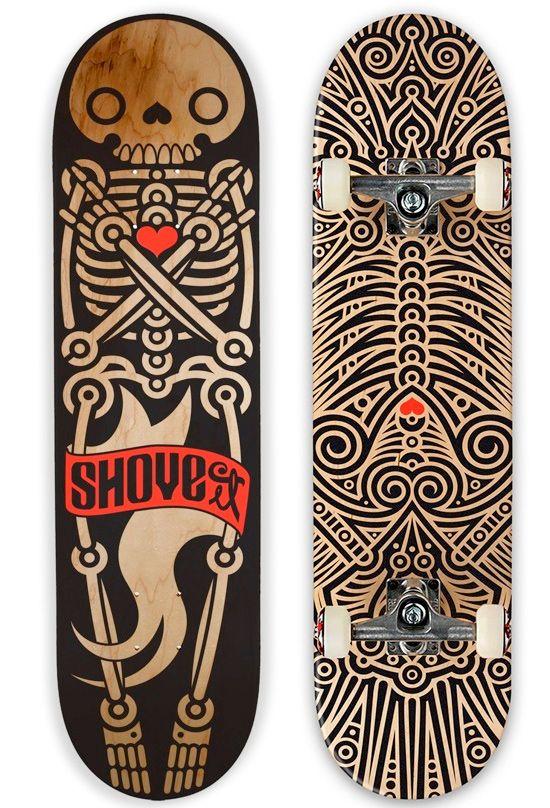 a tribal illustration for Skateboard #Illustration #Skateboard @matachodescorp