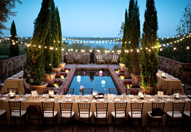 7 Places to Use String Bistro Lights at Your Wedding Bistro Lights, Bistros and Receptions