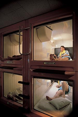Try out a Capsule Hotel. This one is in Tokyo, Japan