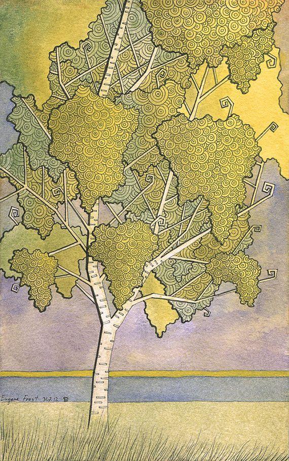 Illustration print - Birch 1 - 7 x 10