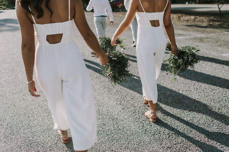 Brown Brothers Milawa Wedding Bridesmaids Jumpsuits  Valley Blooms