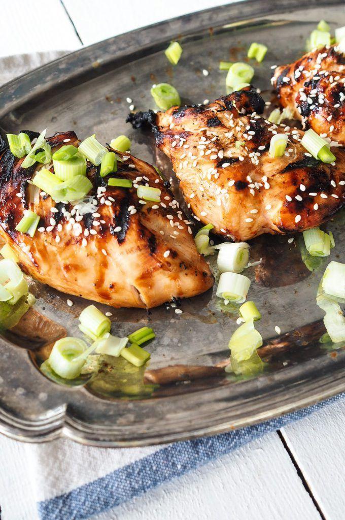 aasialaisittain maustettu kana grillistä