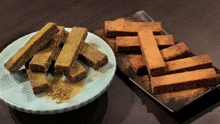 Enkel proteinbar som kan smaksättas med jordnötssmör, hampa, choklad eller lakrits.