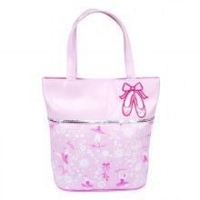 Every little girl will love this cute hand bag. This handbag has easy care lining and is the perfect accessory for any young Ballerina.  Size: 20.5cm x 8.5cm x 27cm