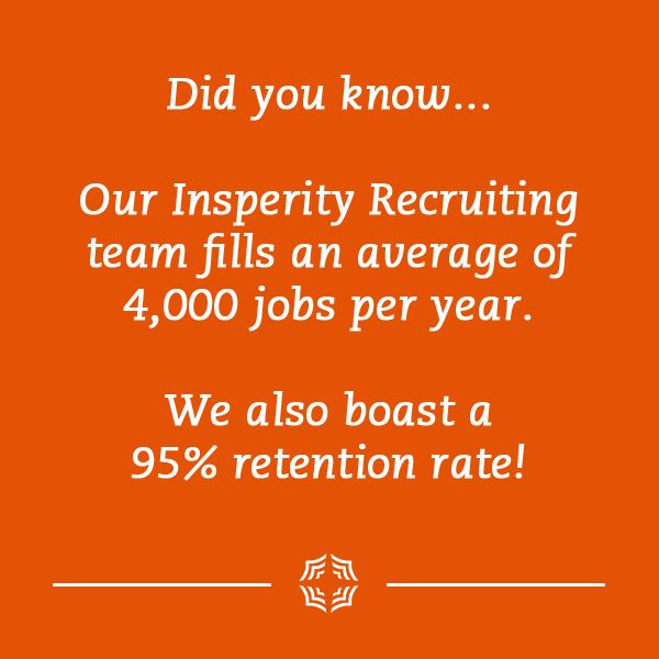 Insperity Retention Rate Did You Know Fun Facts