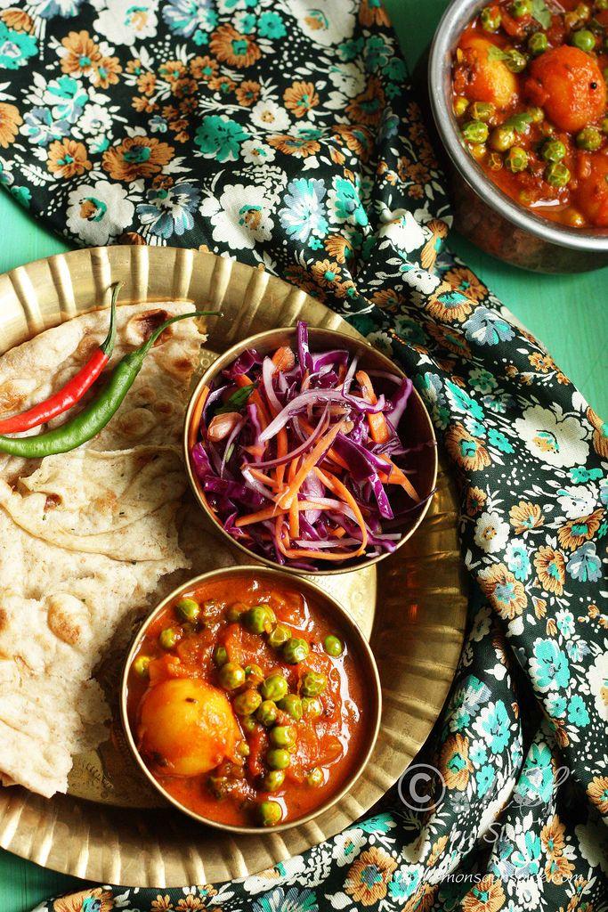 Aloo Matar Recipe | Simple Vegan Potato and Peas Curry #recipe ~ http://www.monsoonspice.com/2013/08/aloo-matar-recipe-simple-vegan-potato.html