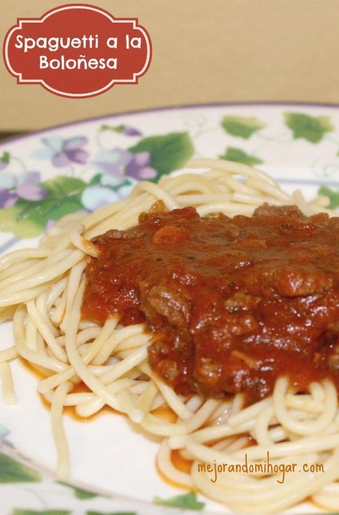 Spaguetti a la Boloñesa o Bolognesa - Mejorando Mi Hogar