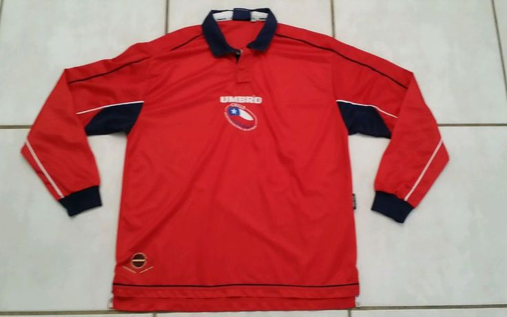 Rare Vintage Chile  National Team Long Sleeve  Soccer Jersey Men's XL #UMBRO #Chile