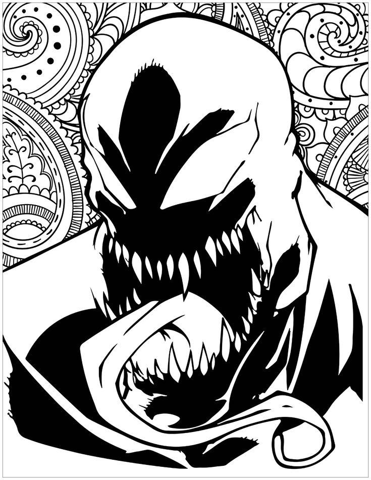 Marvel villains Venom - Books and Comics Coloring Pages ...