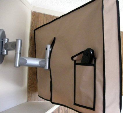 "Outdoor Tv Cover (Waterproof) Fits 32"" Television, Enclosure in TAN for Swing Arm Mount.  This is more affordable $65.80"