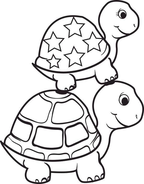 Sheet Coloring Math Turtle Sea