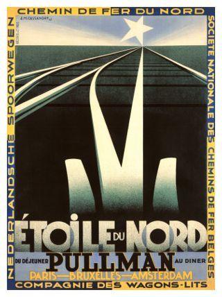 'Étoile du Nord', 1927 (Compagnie Internationale des Wagons-Lits Poster)