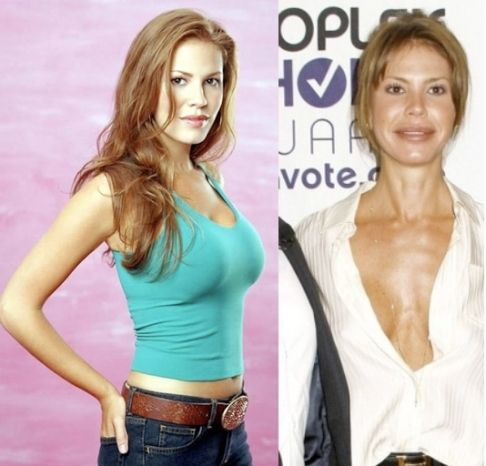 Nikki Cox before & after (also exhibiting scary weight loss)