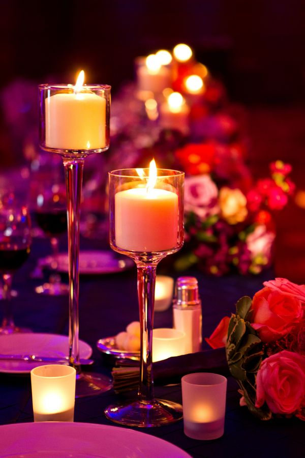 Romantic candle lit wedding