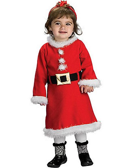 Lil Miss Santa Infant Costume - Sugar u0027n spice and everything nice - itu0027s all cute for Christmas with this darling Lil Santa Girl costume.  sc 1 st  Pinterest & 7 best This is Halloween images on Pinterest | Baby costumes ...