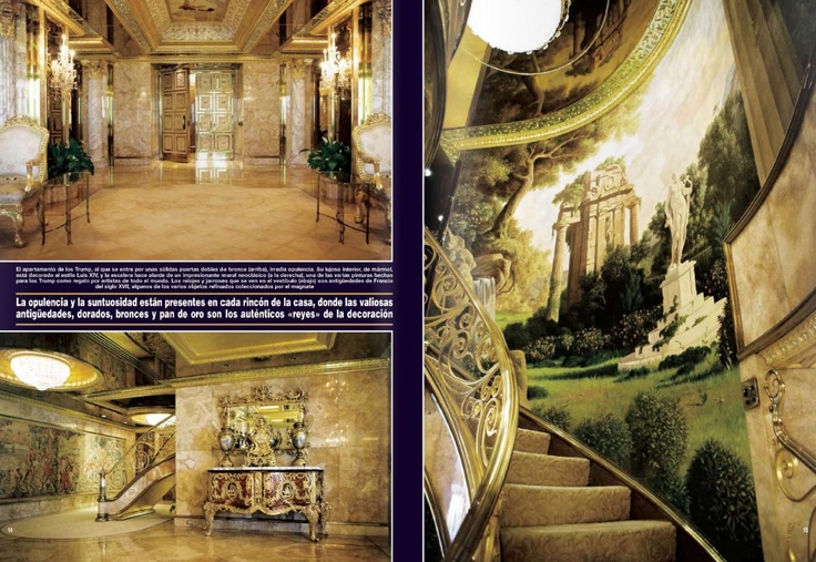 Donald Trump's house, some would say, ostentatious, I love it!