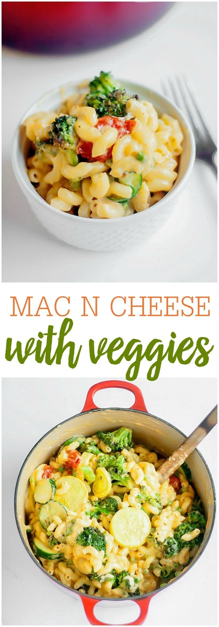 Roasted Vegetable Mac and Cheese - a sure fire way to get your kids to eat their veggies.. covering it in cheese! Roast up your favorite vegetables like broccoli, tomatoes, peppers, zucchini, etc. and mix it with an easy one pot mac and cheese! The family will love it!!