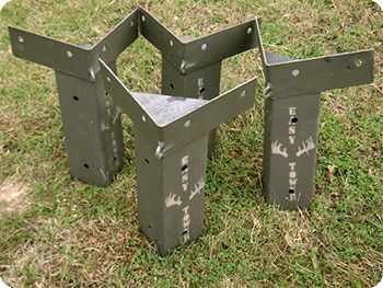 E-Z TOWER DEER BLIND BRACKETS.......D. #deerstands