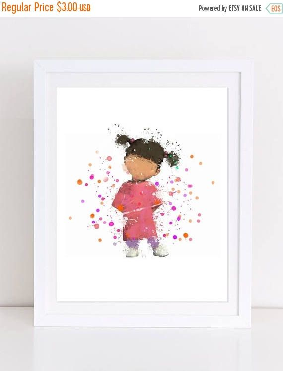 60%OFF Monster Inc Poster Boo Poster Boo Watercolor Nursery