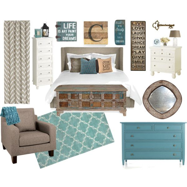 """Country Chic Bedroom"" by amandaloverstreet on Polyvore"