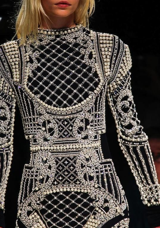 Balmain Fall 2012.  I LOVE the concept but think th execution was a little....awful...