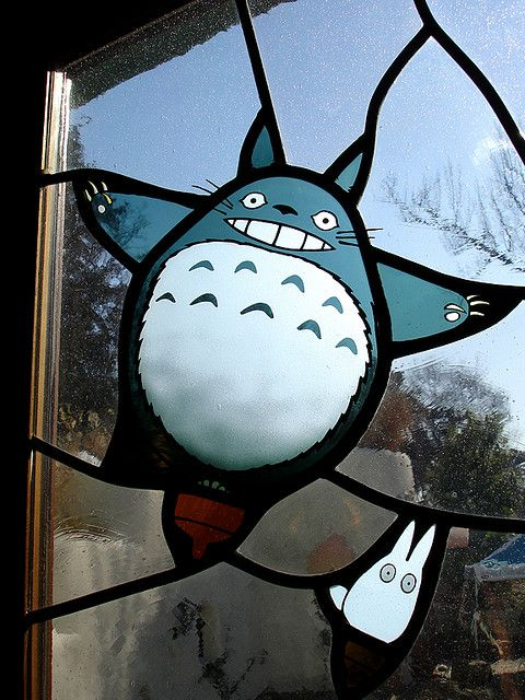 """Totoro in my window??? yes!!!  Totoro and Chibi Totoro from """"My Neighbor Totoro"""" by Eoghan Lynch, via Flickr"""