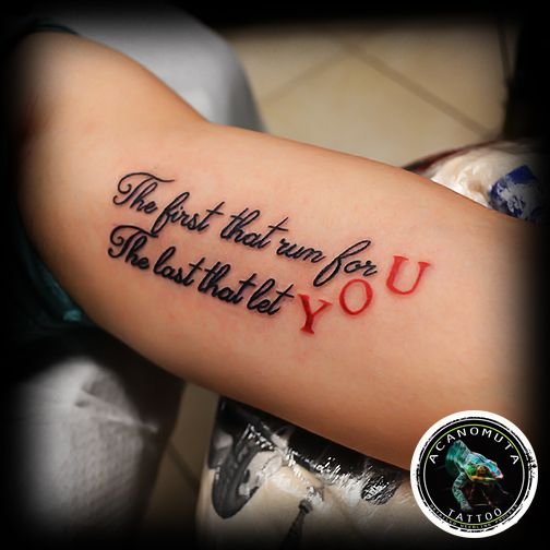 Lettering tattoo is a great idea for your new tattoo.