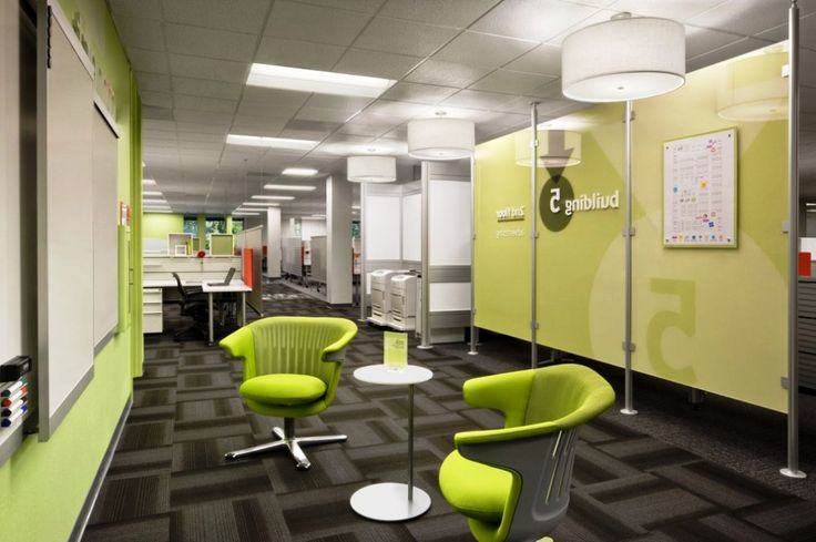 I Like The Lime Green With The Grey Textured Carpet Tiles