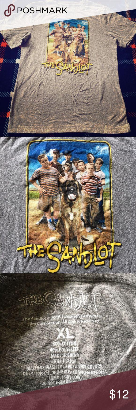 The Sandlot boys t-shirt Gray Sandlot t-shirt with the cast on front of shirt. Good condition The Sandlot  Shirts & Tops Tees - Short Sleeve