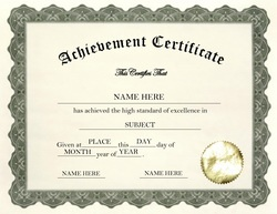 Certificate Of Achievement Word Template Prepossessing 24 Best Certificate Images On Pinterest  Certificate Templates .