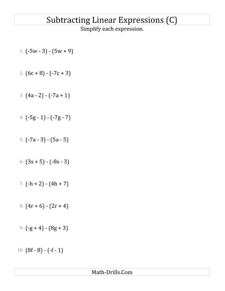 mathworksheets4kids simplify the expressions simplifying algebraic expressions worksheets. Black Bedroom Furniture Sets. Home Design Ideas