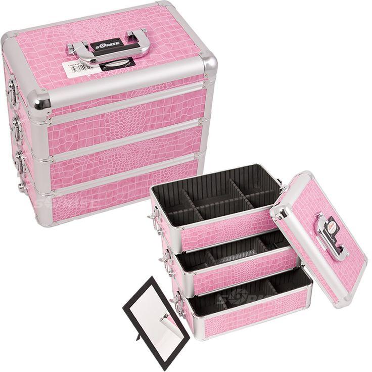 Pink Croc Pro Makeup Case - E3303 - salonhive.com