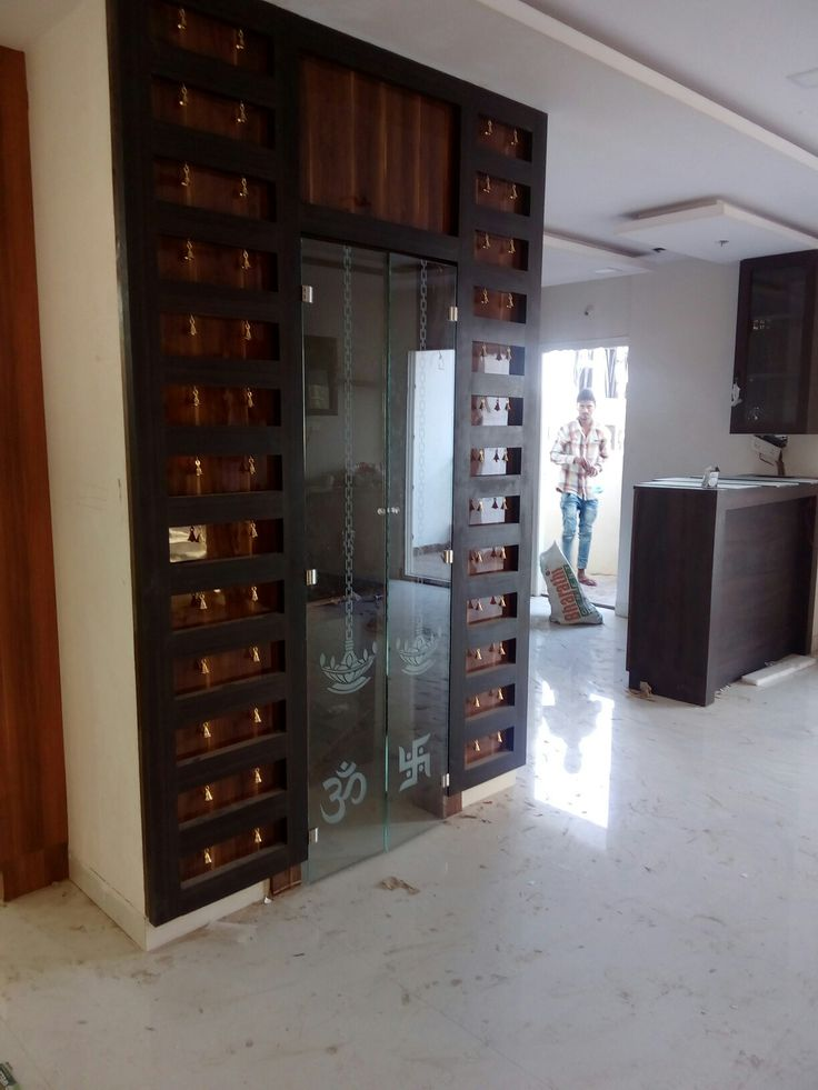 Puja Room Glass Door With Bells, Best Suit For Flats