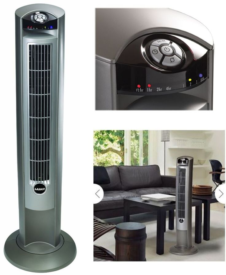 Lasko Tower Fan With Remote Control Oscillating Wind Curve Air Ionizer 42 Inches