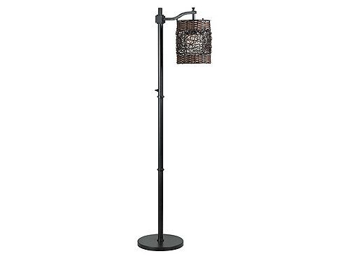 An eclectic combination of elements bring exceptional design unity to this artful Brent outdoor floor lamp. A unique layered shade effect and dual woven treatment interact beautifully with its stylized base, giving this outdoor lamp broad applications.