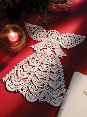 New Crochet Downloads - Angel Doily $5.99 for the pattern.... pricey, but pretty
