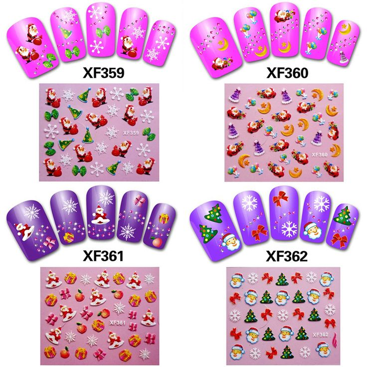 1 Sheet Women Navidad Nail Art Christmas Stickers Vignette Papai Noel Decoracion New Year Accessories . Decals Sticker Nails DIY #>=#>=#>=#>=#> Click on the pin to check out discount price, color, size, shipping, etc. Save and like it!