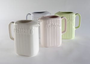 From Studio Ceramics 'Retro Lynn' Range, we have the classic trio of McApline jug.    Not only does this Kiwi-inspired ceramic look the part, but it's also super functional!  Measures 19cm high x 11.5cm wide x 10cm deep.  Available in ivory, blue, pink and green.