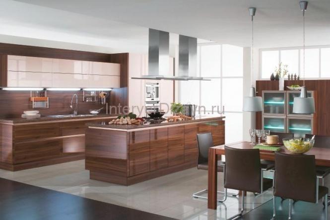 современный дизайн кухни столовой