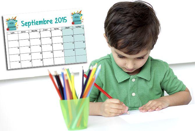 Calendario escolar 2015-2016 para imprimir - Escuela infantil y colegio - Educación - Guia del Niño