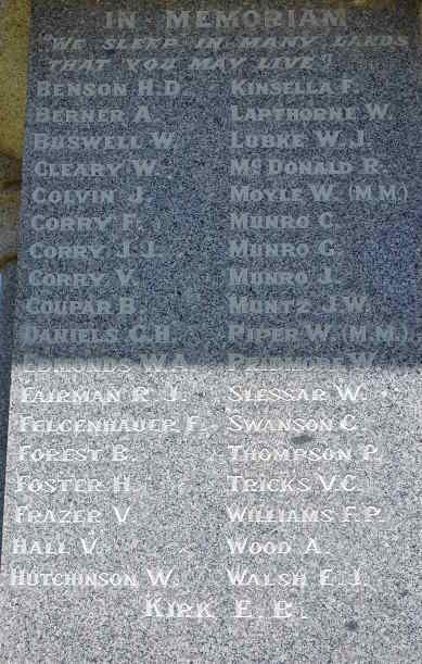 Nathalia War Memoriall