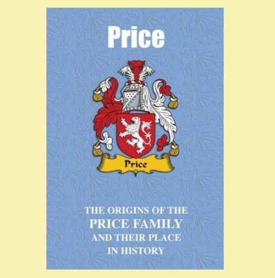 Price Coat Of Arms History Welsh Family Name Origins Mini Book