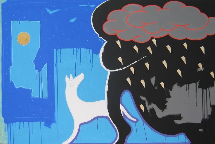 "andrea mattiello ""strada per eldorado""   acrilico,grafite e pastello; cm 150x100; 2011 #andreamattiello #mattiello #arte #art #contemporaryart #italianartist #artista #artista #emergente #acrilico #tela #tecnicamista #acrylic #canvas #collage"